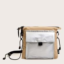 Colorblock Metallic Crossbody Bag