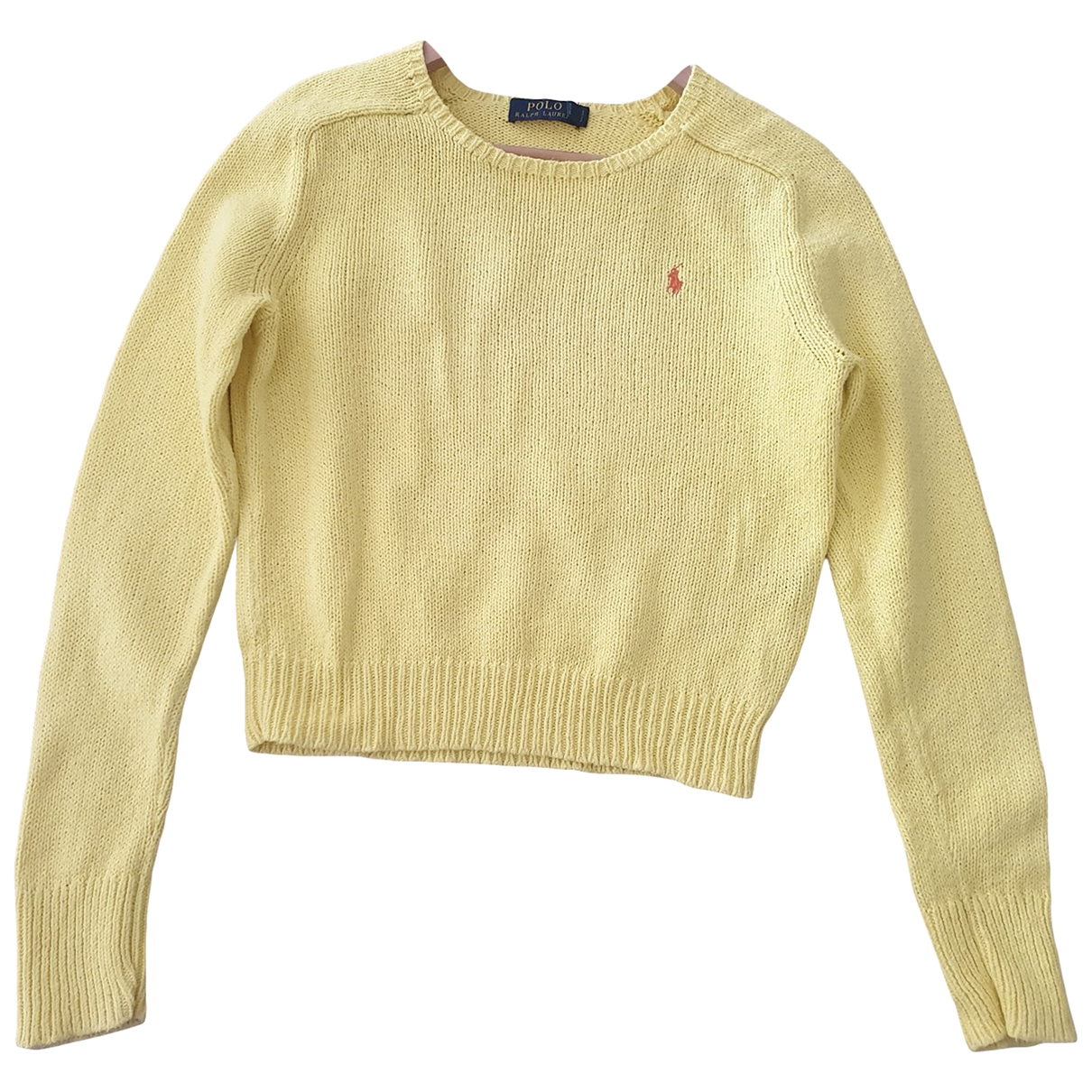 Polo Ralph Lauren \N Yellow Cotton Knitwear for Women L International