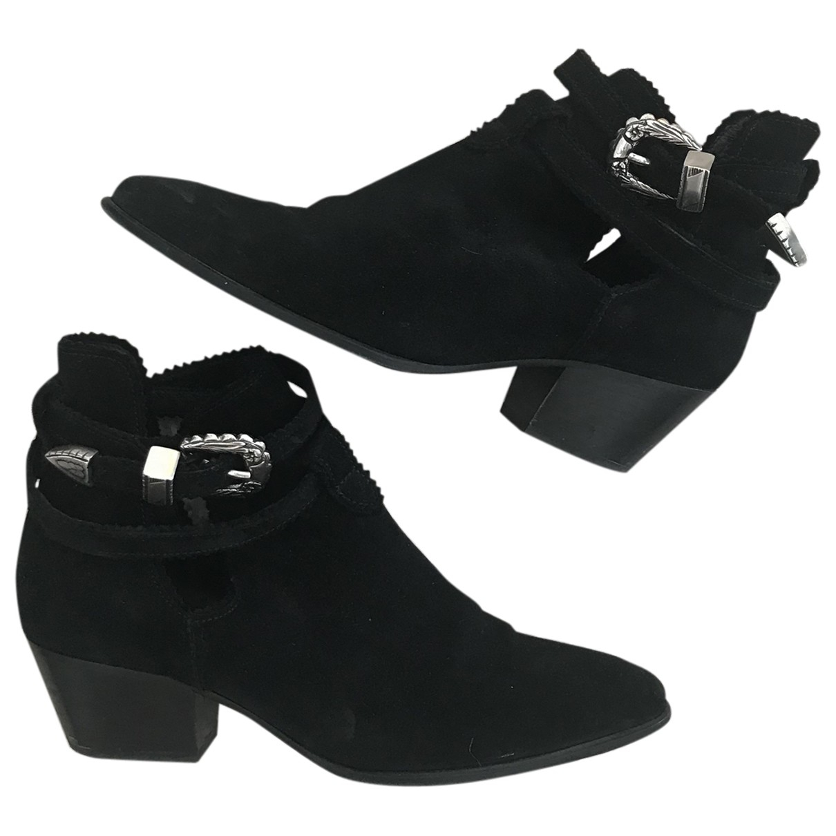 Sandro \N Black Suede Ankle boots for Women 37 EU