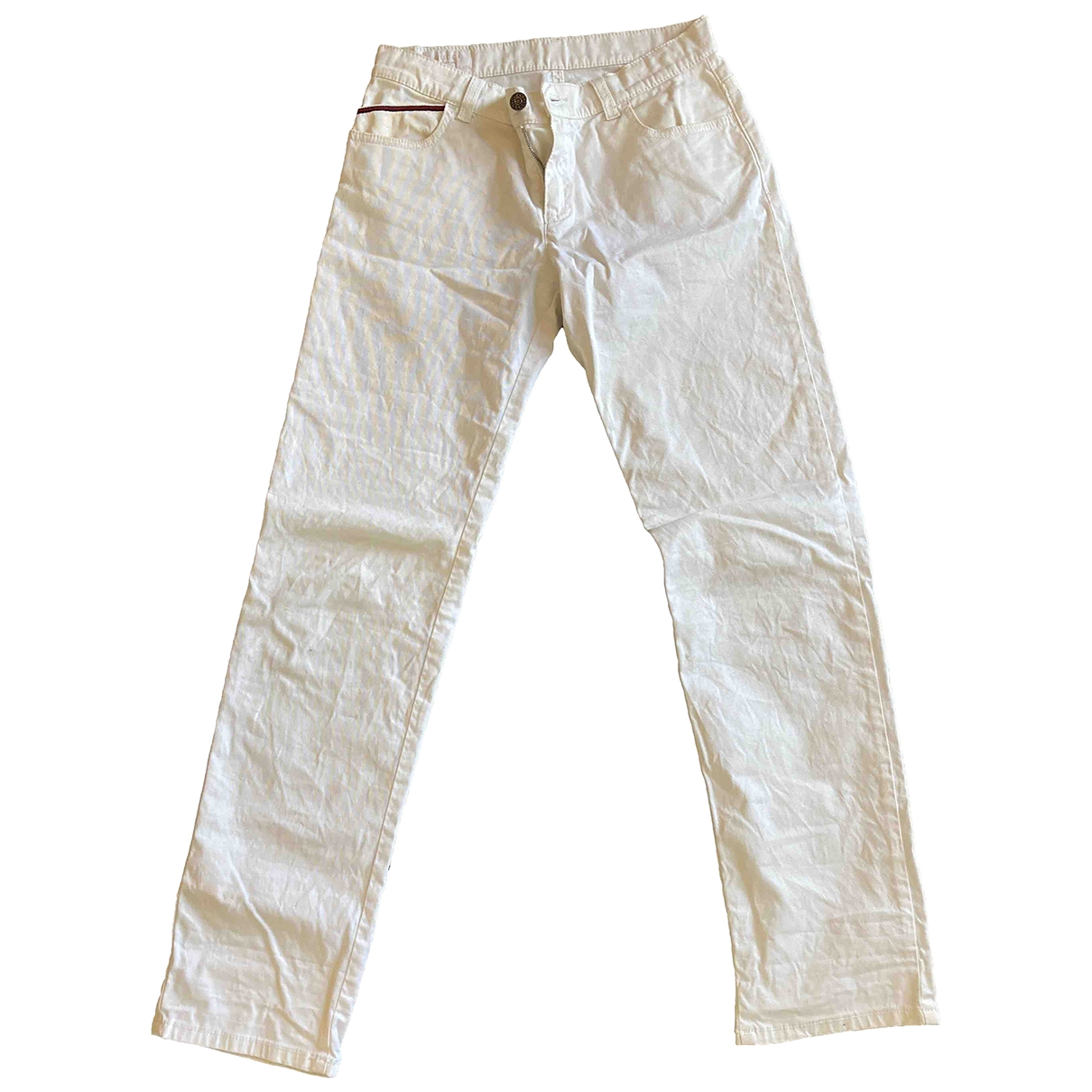 Gucci \N White Cotton Trousers for Kids 12 years - XS FR