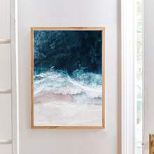 Ocean Wave Print Wall Painting Without Frame