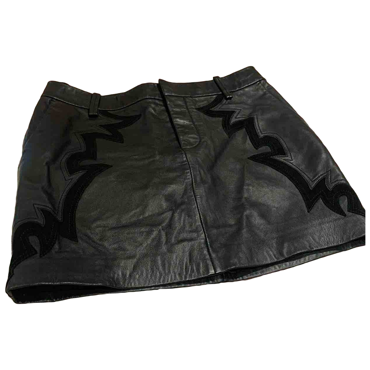 Zadig & Voltaire \N Black Leather skirt for Women 38 FR