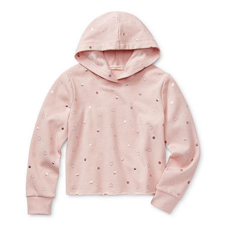 Inspired Hearts Little & Big Girls Drop Shoulder Sleeve Hoodie, Xx-large Plus , Pink