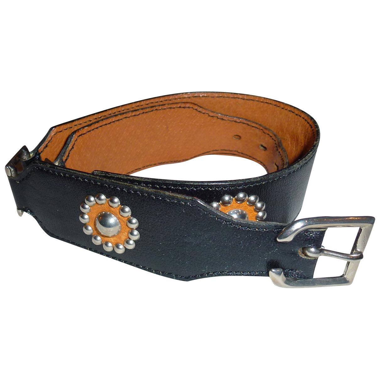 Laffargue \N Black Leather belt for Women 75 cm