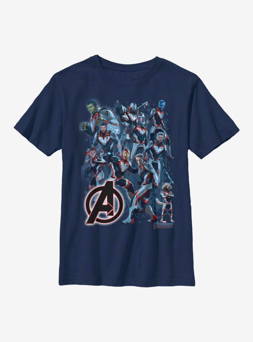 Marvel Avengers Suit Group Youth T-Shirt