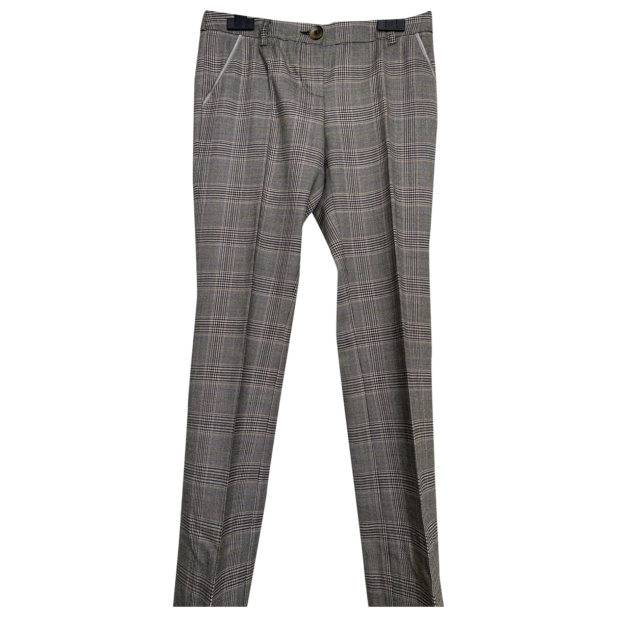 D&g \N Grey Wool Trousers for Women 40 IT