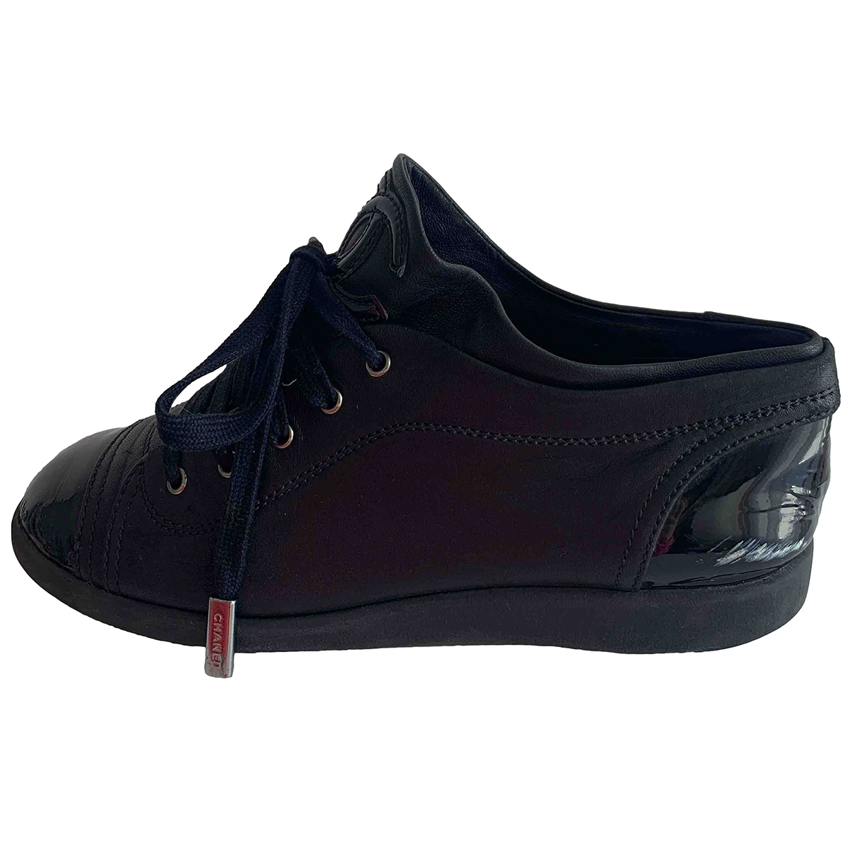 Chanel \N Black Patent leather Trainers for Women 37 EU