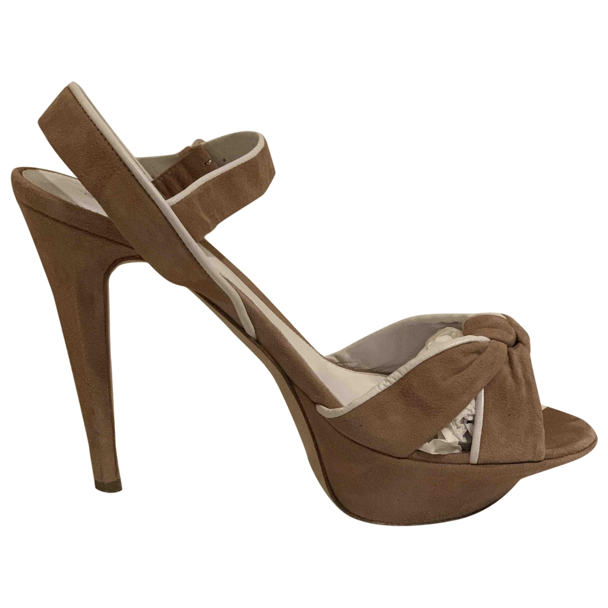 Sergio Rossi \N Beige Suede Sandals for Women 39 EU