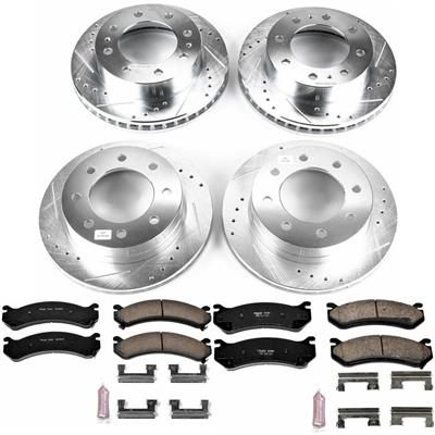 Power Stop Z23 Evolution Sport Performance 1-Click Front and Rear Brake Kit - K4423