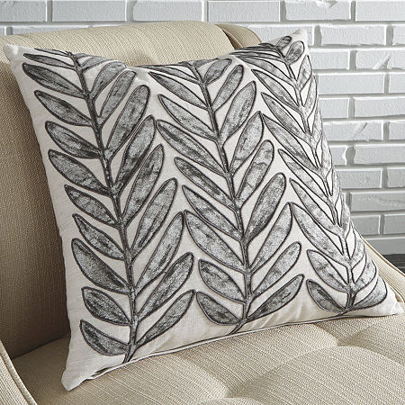 Signature Design by Ashley Masood Square Throw Pillow, One Size , White