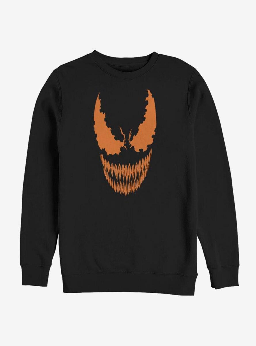 Marvel Venom Pumpkin Orange Face Sweatshirt