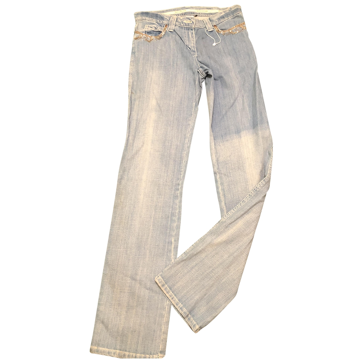 Max Mara Weekend \N Blue Denim - Jeans Trousers for Women 38 IT