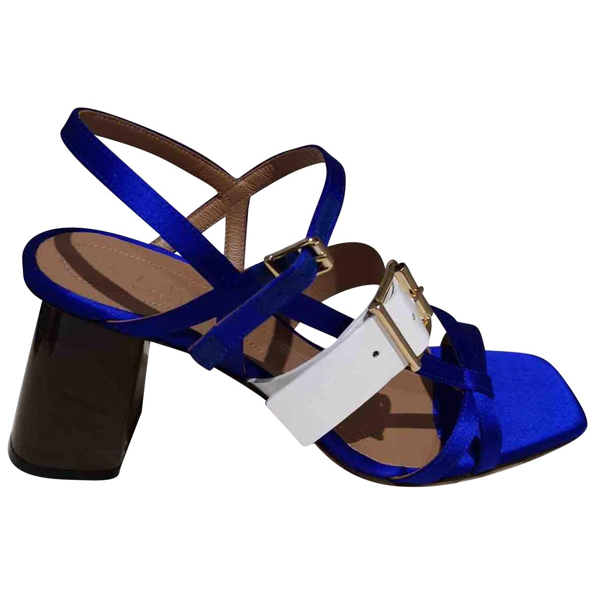 Marni \N Blue Leather Heels for Women 38 EU