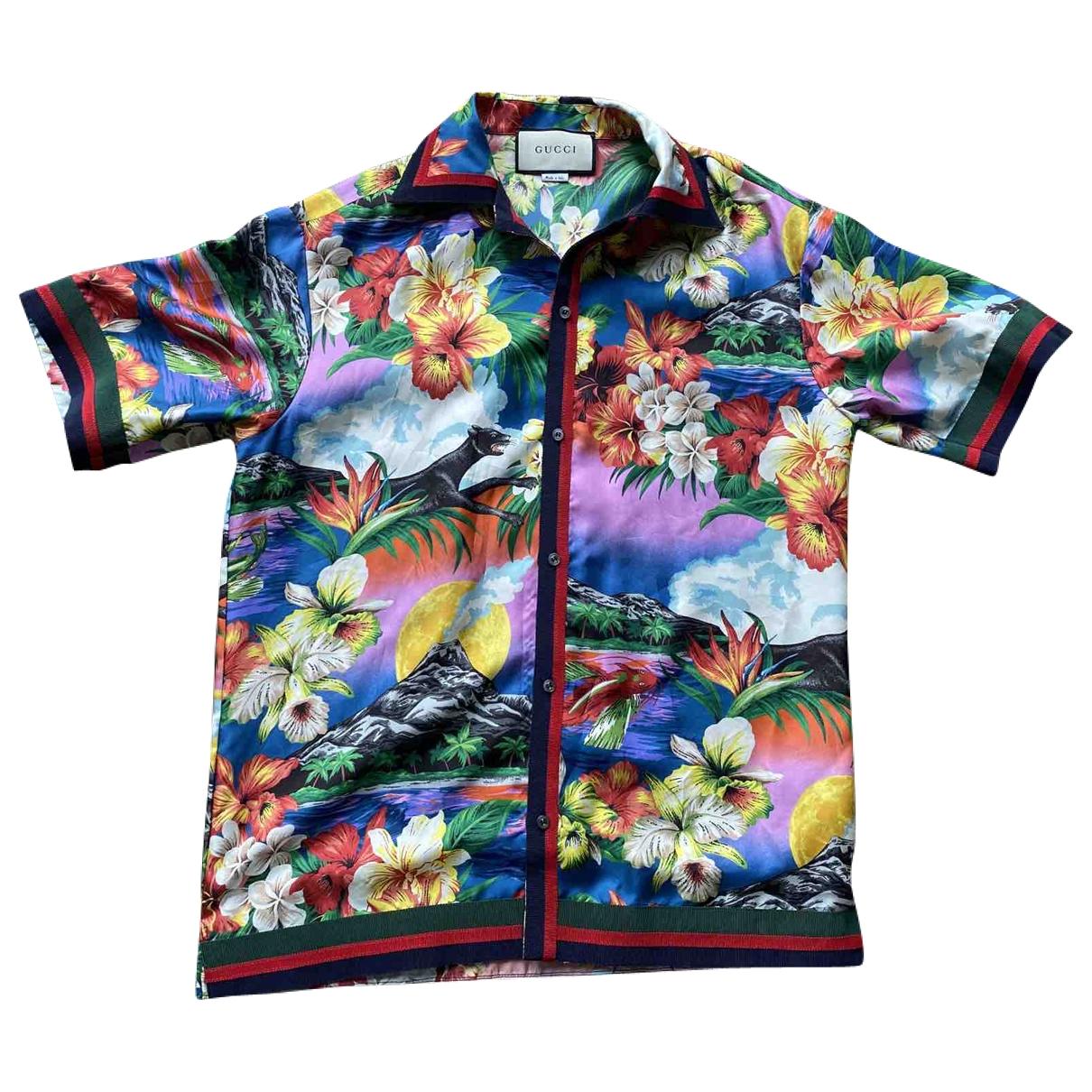 Gucci \N Multicolour Silk Shirts for Men 44 EU (tour de cou / collar)
