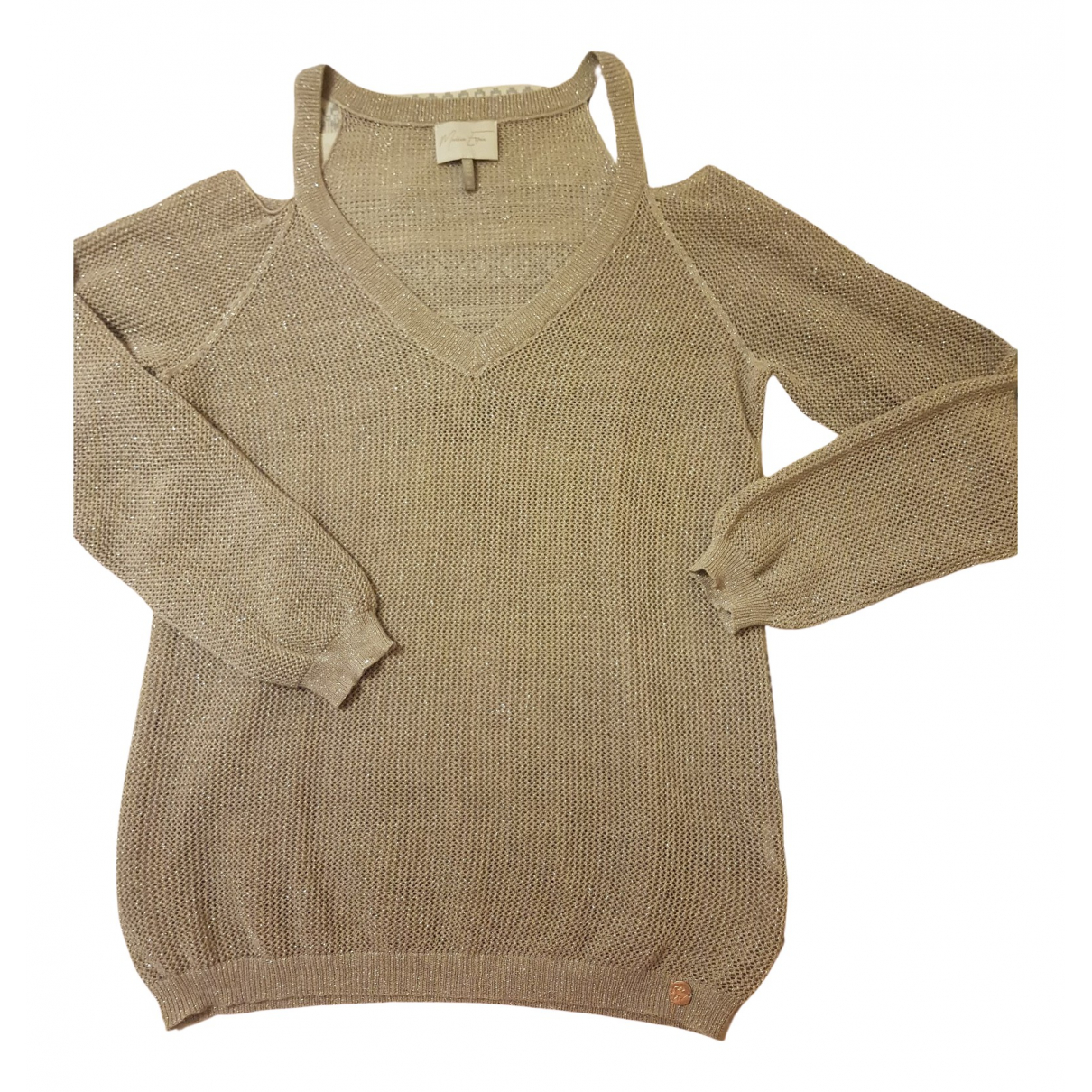 Non Signé / Unsigned \N Silver Cotton Knitwear for Women 42 FR
