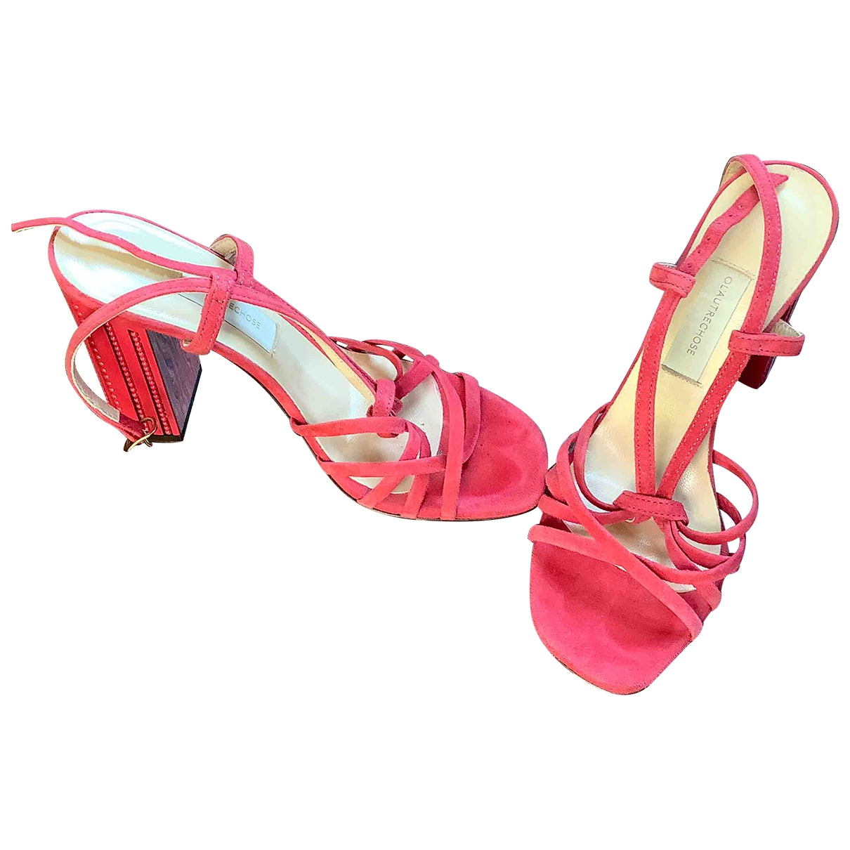 Non Signé / Unsigned \N Red Suede Sandals for Women 36 EU