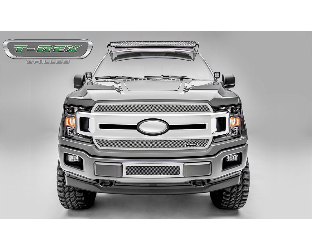 2018-2021 F-150 Limited, Lariat Upper Class Bumper Grille, Polished, 1 Pc, Overlay/Insert - PN #55710