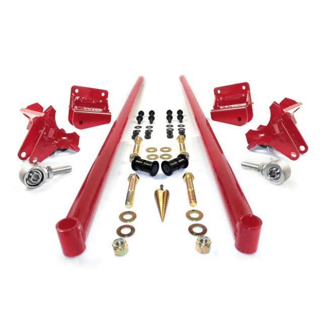 2001-2010 Chevrolet / GMC 70 Inch Bolt On Traction Bars 3.5 Inch Axle Diameter Candy Red HSP Diesel 035-2-HSP-CR
