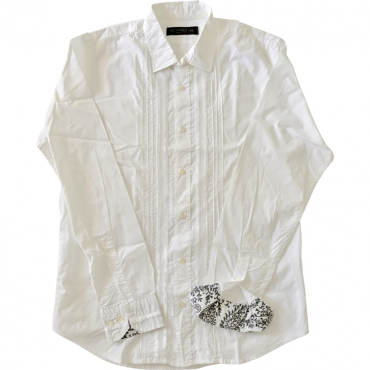 Etro \N White Cotton Shirts for Men XXL International