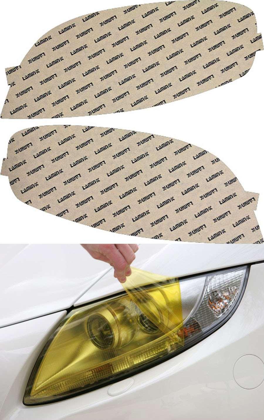 Chevrolet Aveo Sedan 07-11 Yellow Headlight Covers Lamin-X CH024Y