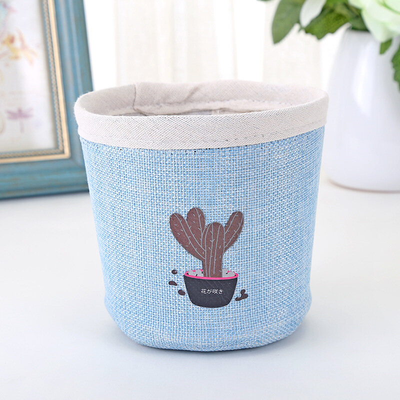 Canvas Potted Flower Storage Bag Debris Storage Basket