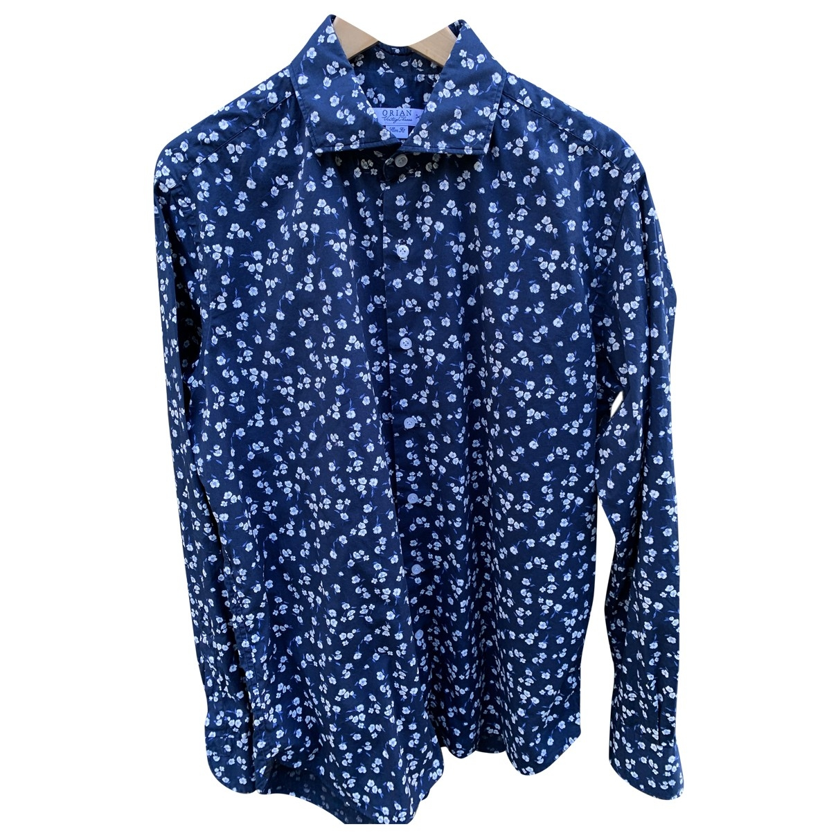 Non Signé / Unsigned \N Blue Cotton Shirts for Men 43 EU (tour de cou / collar)
