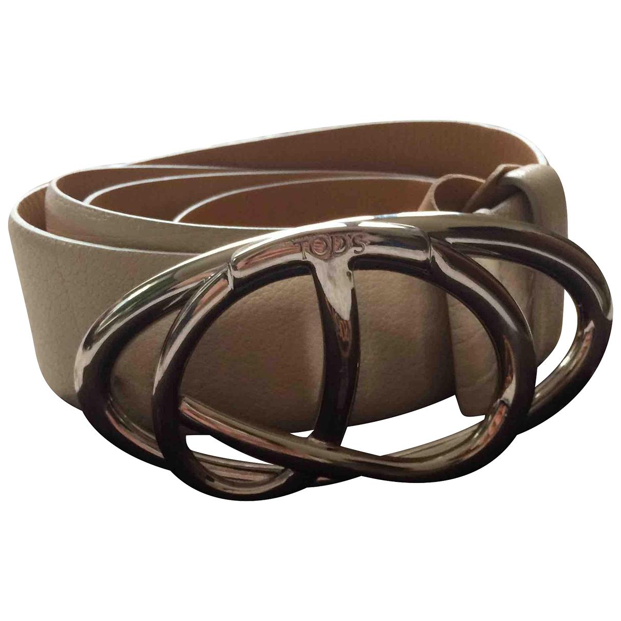 Tod's \N White Leather belt for Women M International