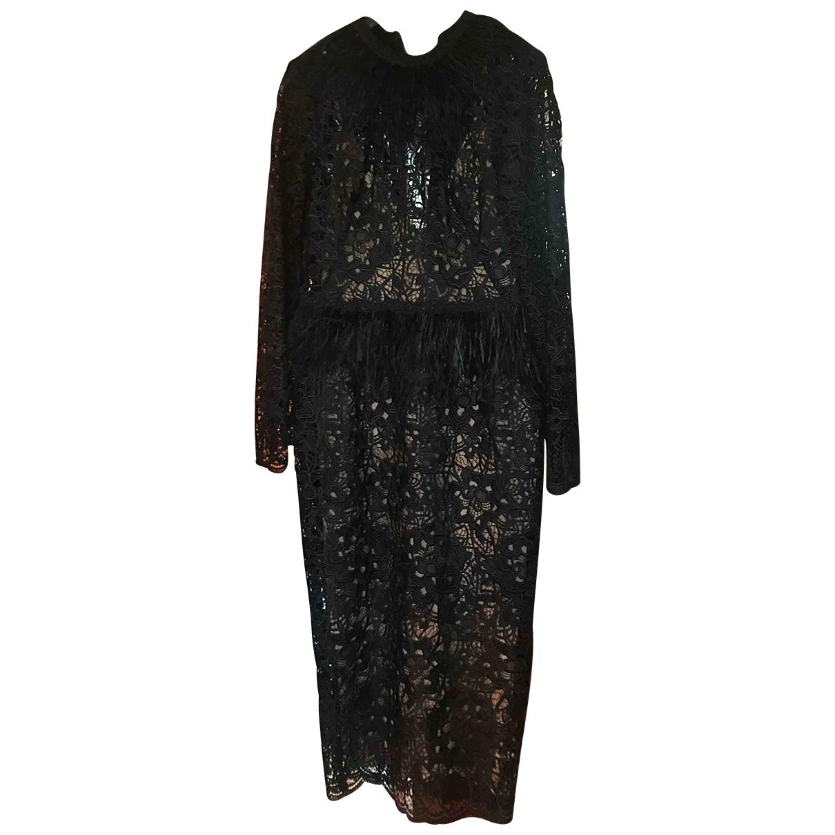Zuhair Murad \N Black Lace dress for Women 36 FR
