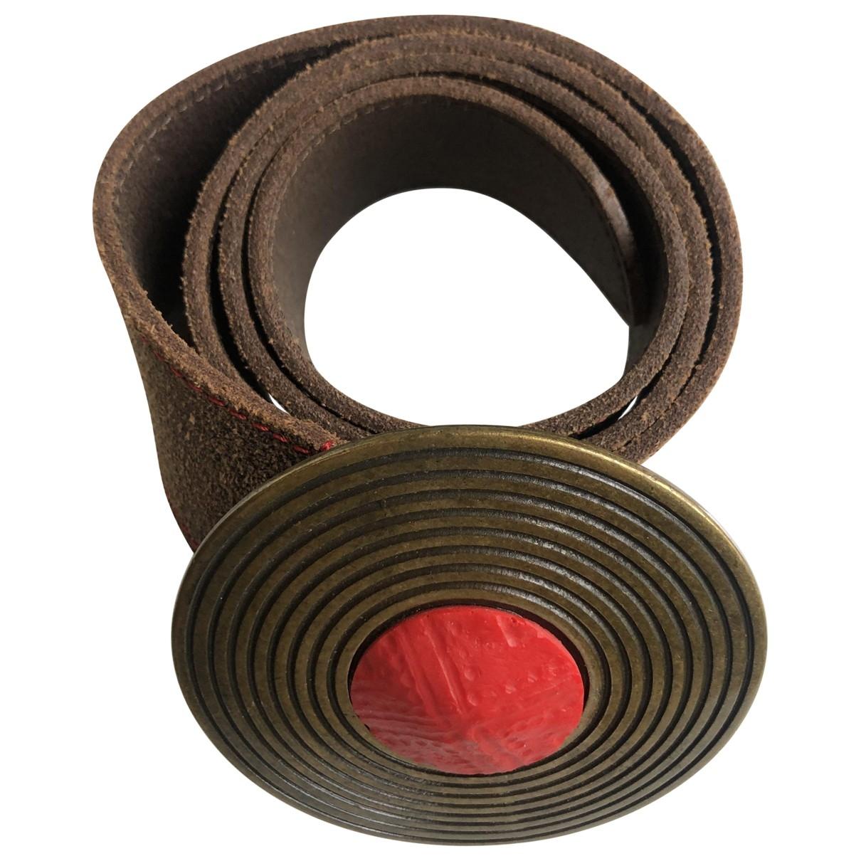 Roberto Cavalli \N Brown Leather belt for Women 80 cm