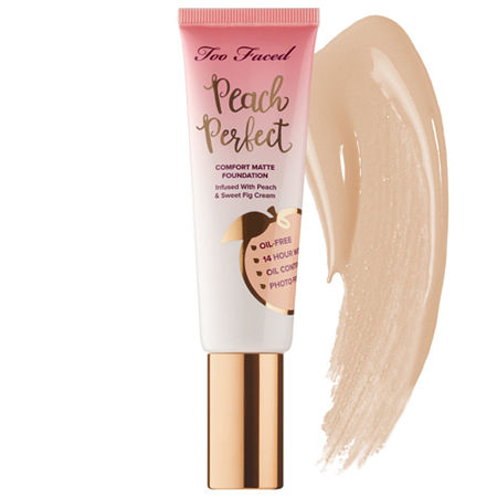 Too Faced Peach Perfect Comfort Matte Foundation - Peaches and Cream Collection, One Size , No Color Family