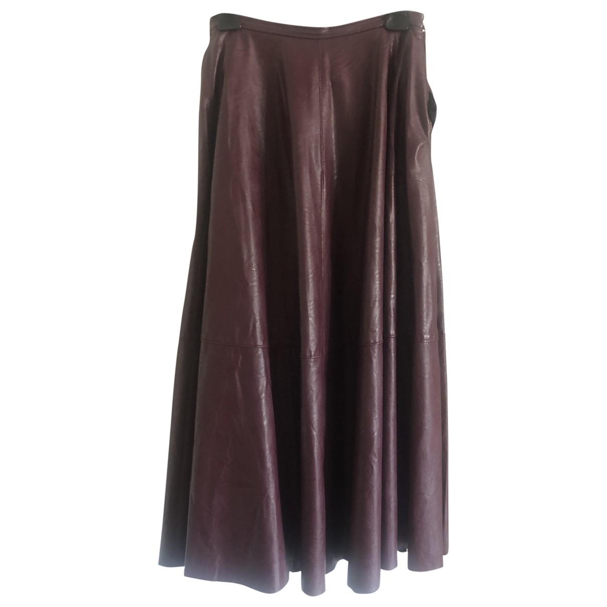 Mm6 \N Burgundy skirt for Women 40 IT