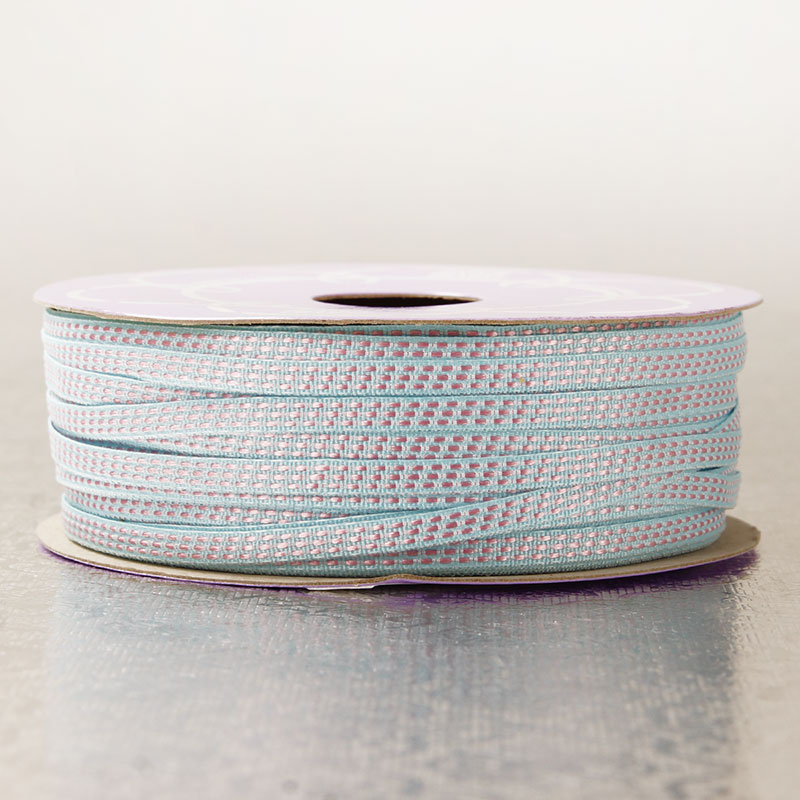 Polyester 4mm X 25 Yards Light Blue Three Dotted Line Trim by Ribbons.com