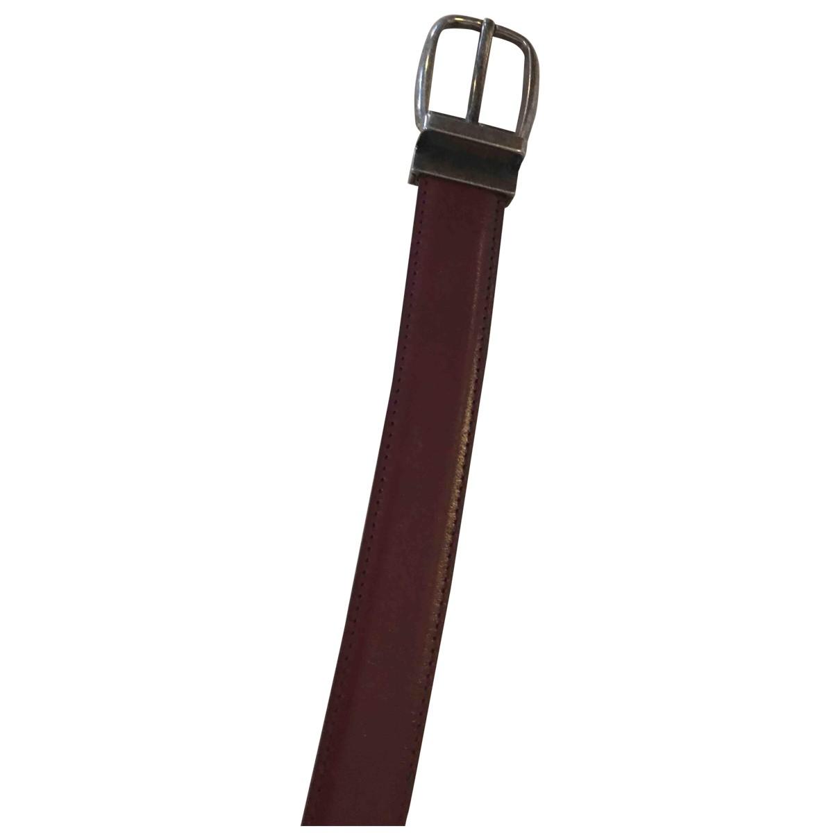 Dolce & Gabbana \N Burgundy Leather belt for Men 95 cm