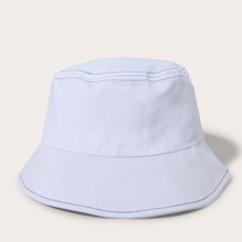 Men Simple Solid Bucket Hat