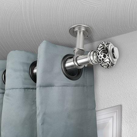 Rod Desyne Maple Ceiling Curtain Rod, One Size , Silver