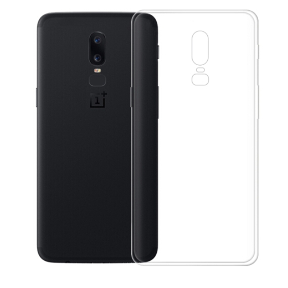 OnePlus 6 Soft Case Air Shell Silicon Back Cover High Quality Protective Phone Shell - Transparent