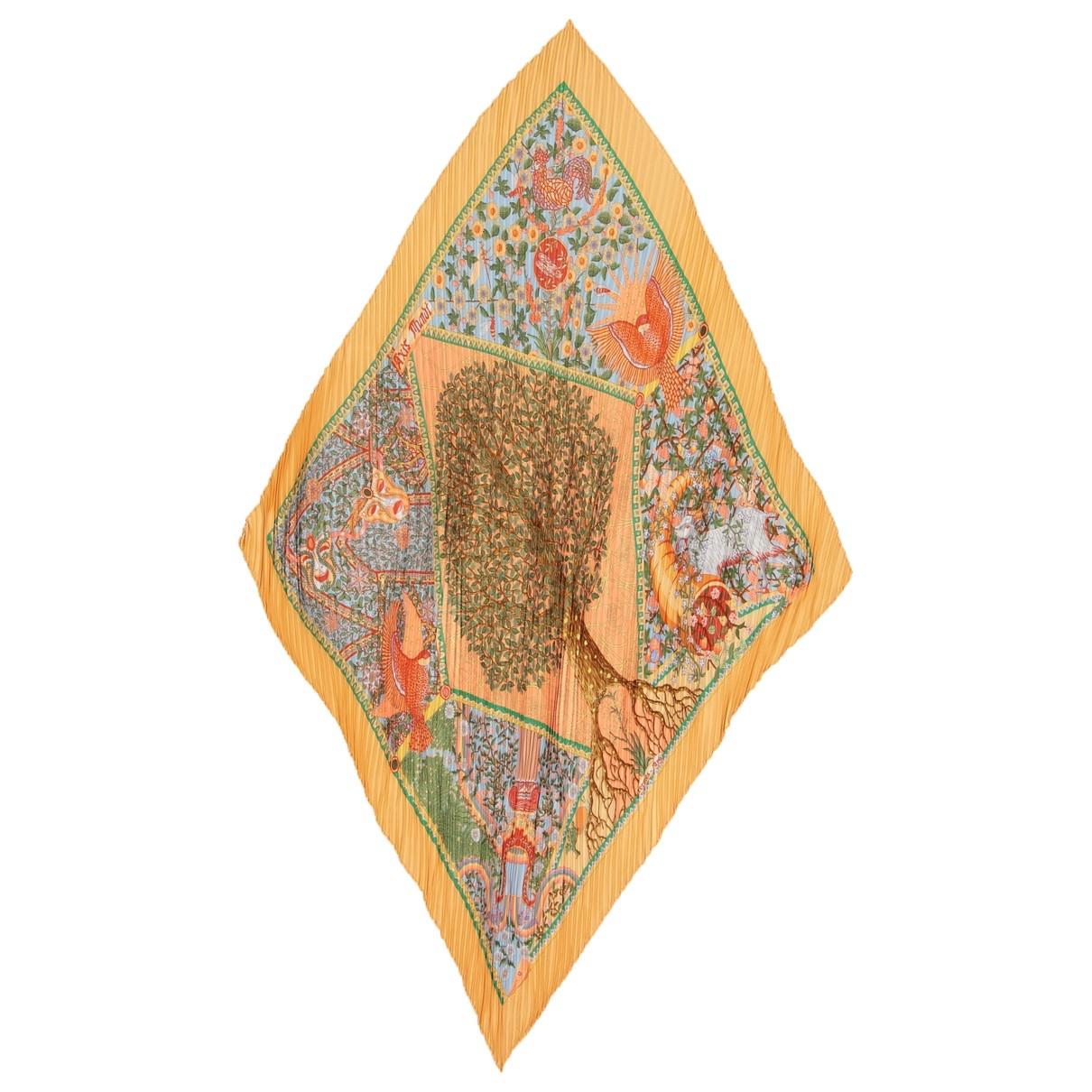Hermès Plissé Orange Silk Silk handkerchief for Women \N