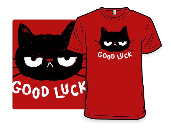 Good Luck Cat T Shirt