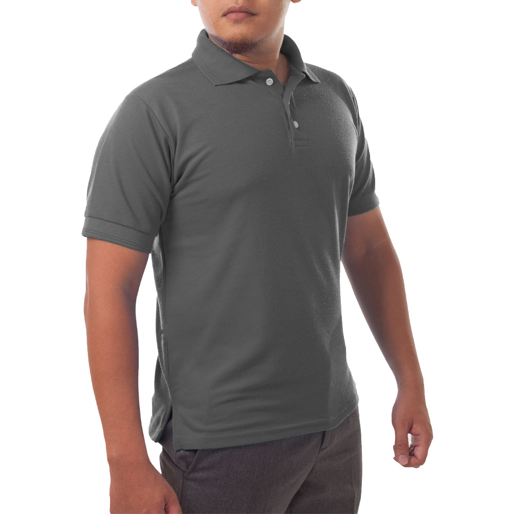Page & Tuttle Solid Jersey Short Sleeve Polo Golf Shirt Grey- Mens- Size XXL