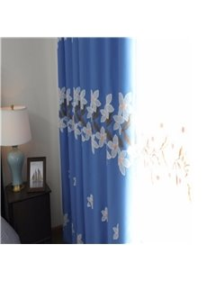 Elegant and Nobel Style Flower pattern 2 Pieces Decorative and Blackout Living Room Curtain