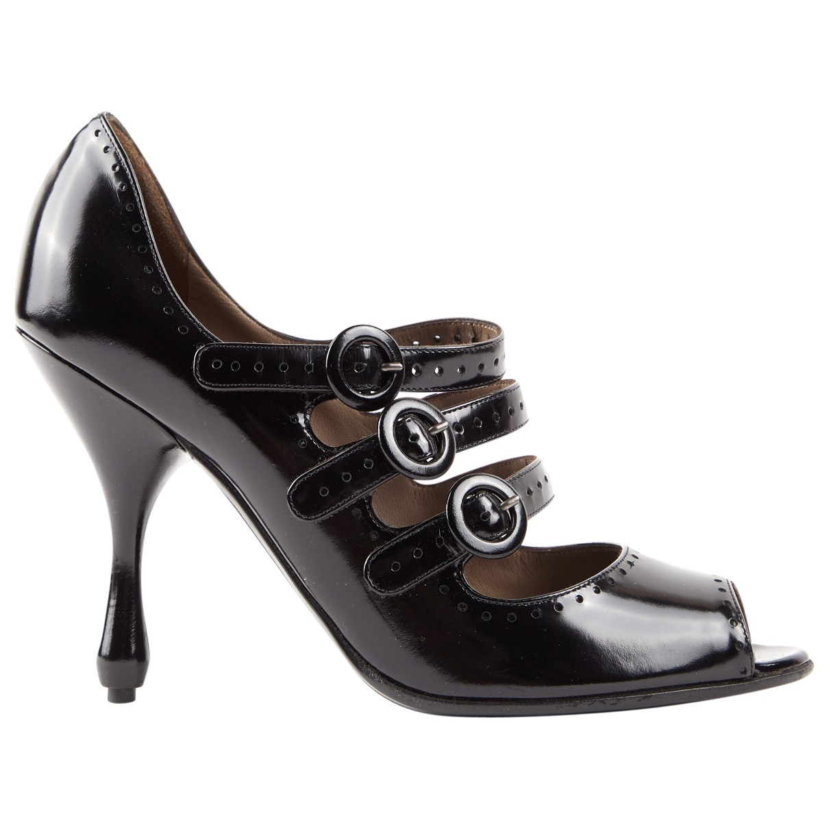Bottega Veneta \N Black Patent leather Heels for Women 37.5 EU