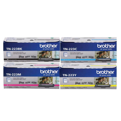 Brother TN223 cartouche de toner originale combo bk/c/m/y