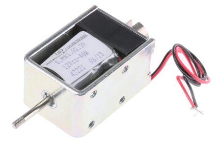 Mecalectro Push Pull Action DC D-Frame Solenoid, 10mm stroke, 40W, 12 V dc