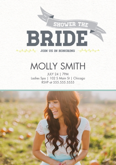 Wedding Shower Invites Flat Matte Photo Paper Cards with Envelopes, 5x7, Card & Stationery -Lovebirds Shower the Bride