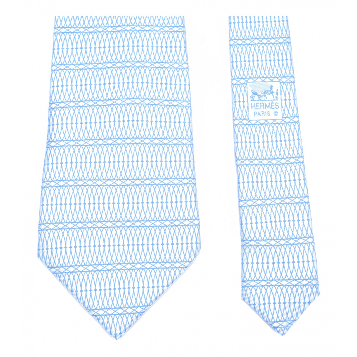 Hermès N Blue Silk Ties for Men N