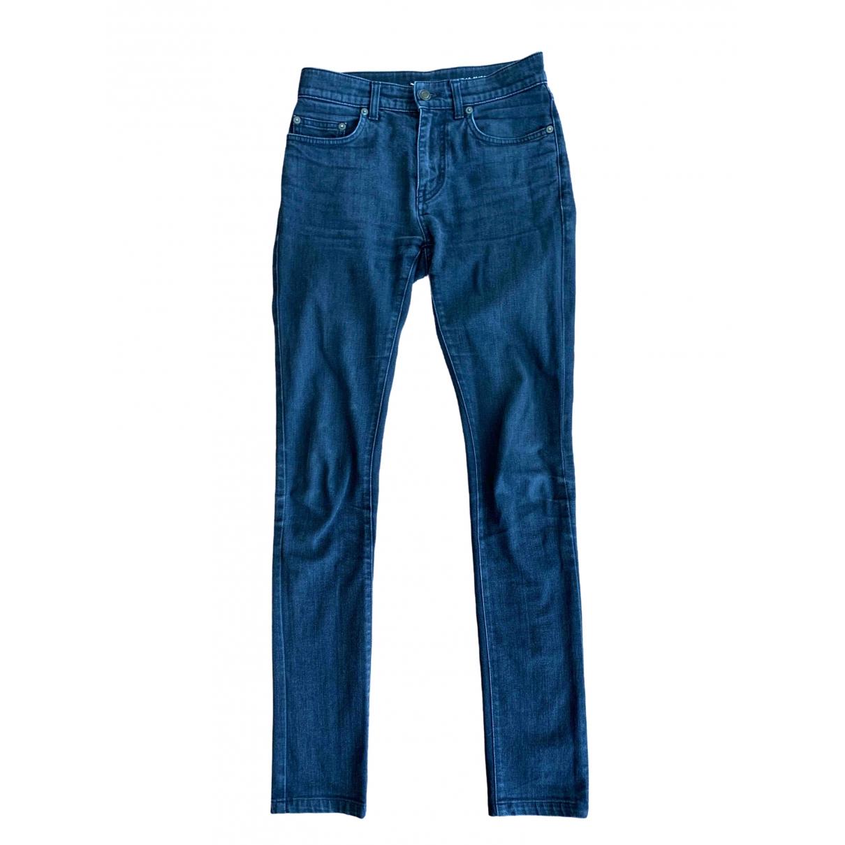 Saint Laurent \N Black Cotton Jeans for Men 27 US