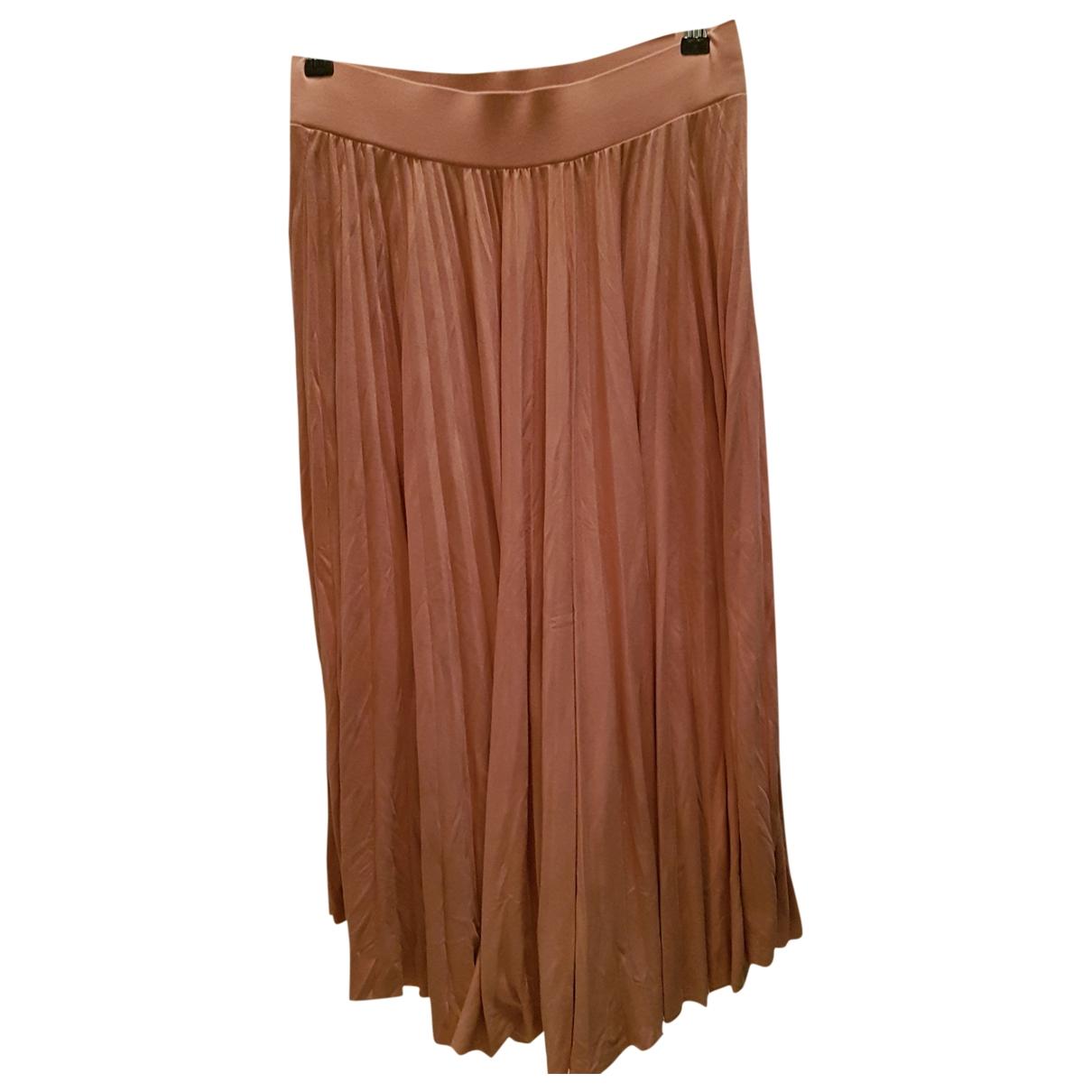 Essentiel Antwerp \N Pink Cotton skirt for Women 38 FR