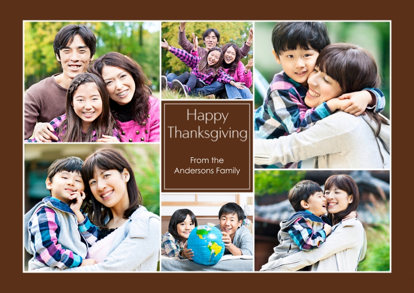 Thanksgiving Photo Cards 5x7 Cards, Premium Cardstock 120lb with Rounded Corners, Card & Stationery -Happy Thanksgiving Collage