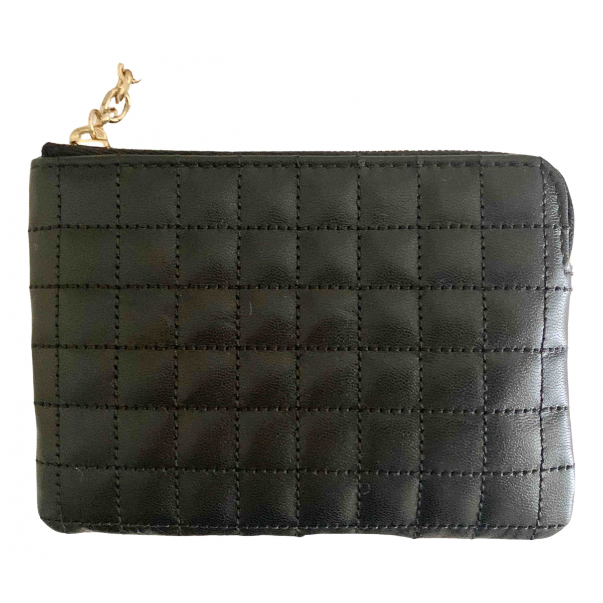 Celine \N Black Leather Purses, wallet & cases for Women \N