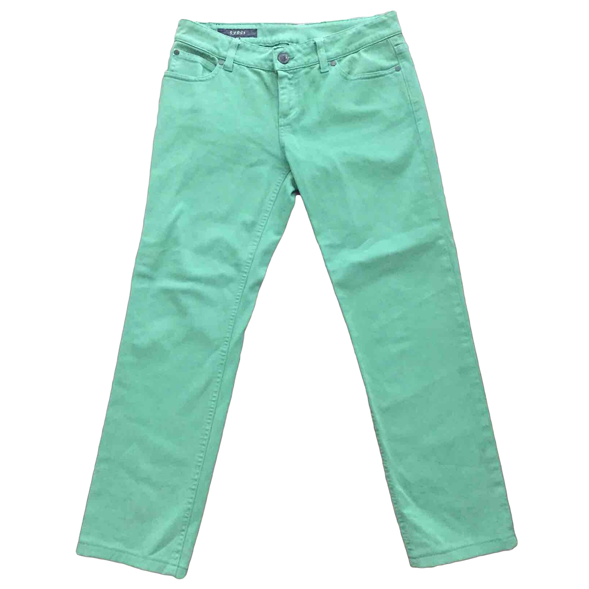 Gucci \N Green Cotton Trousers for Women 40 IT
